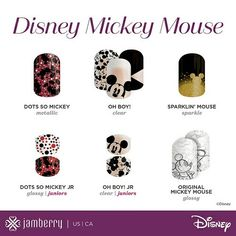 Really excited for Mickey Mouse nail art thanks to Disney Collection Volume 2 by Jamberry! Check out all the Mickey Mouse nail wraps at Ciarabrandner.jamberry.com