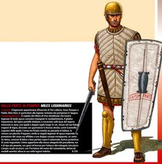 The legionary of Gney Pompey in the battle of Munda Army List, Roman Legion, Celtic Warriors, Empire Romain, Roman Republic, Roman Soldiers, Carthage, Medieval Armor, Historical Architecture