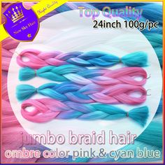 8PC ombre pink + cyan Synthetic Braiding Hair Kanekalon Jumbo Braid X-pression Ultra Braid Hair Extensions Box Braids Hair     #http://www.jennisonbeautysupply.com/    http://www.jennisonbeautysupply.com/products/8pc-ombre-pink-cyan-synthetic-braiding-hair-kanekalon-jumbo-braid-x-pression-ultra-braid-hair-extensions-box-braids-hair/,          8PC ombre pink + cyan  Synthetic Braiding Hair Kanekalon Jumbo Braid X-pression Ultra Braid Hair Extensions Box Braids Hair            8PC ombre pink…