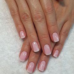 Pin by Candy Diaz on beauty, hair, nails, skin. Subtle Nails, Love Nails, Pretty Nails, My Nails, Shellac Nails, Manicure And Pedicure, Nail Techniques, French Tip Nails, Glam Nails