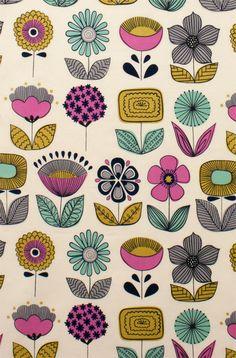 Mecca for Moderns for Alexander Henry -  Urban Garden - Tea - 1 yard -Cotton Fabric on Etsy, $9.50