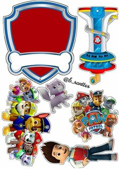 Paw Patrol Birthday Theme, Monster Truck Birthday, Paw Patrol Party, Bolo Do Paw Patrol, Paw Patrol Cake Toppers, Mickey Birthday Cakes, Imprimibles Paw Patrol, Paw Patrol Stickers, Paw Patrol Decorations