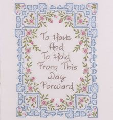 Bucilla ® Stamped Cross Stitch - Picture Kits - To Have and To Hold