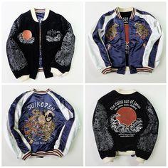 Bakuretsu Ranman SUIKODEN The Rising Sun of Japan Japanese Devil EVIL Ogre Rising SUN Hokusai Wave Souvenir Sukajan Jacket Art - Japan Lover Me Store