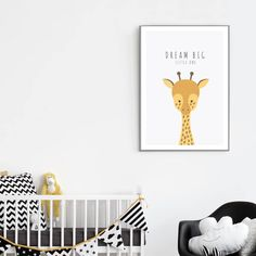 Are you interested in our giraffe picture? With our giraffe poster for baby you need look no further.