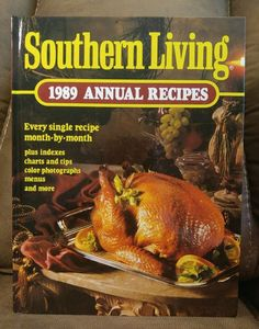 $16.95 OBO! Southern Living CookBook 1989 Annual Recipes Oxmoor HC Vintage Collectible