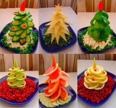 Make a Christmas tree with fruit or vegetable for your Christmas celebration ! WONDERFUL Instruction and more food tree ideas--> http://wonderfuldiy.com/wonderful-diy-food-christmas-tree/ Follow us on Pinterest --> http://bit.ly/1hwW3IK #foodart #Christmasidea