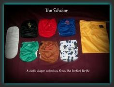 "The Perfect Birth cloth diapers, ""The Scholar"", is an A+. Put on Smart Babies by Smart Mamas. These diapers are made from PUL, so it is designed to keep in moisture and mess for no leaks. The layer against baby's skin is a super soft and absorbent polyester blend. Fits babies from age newborn up to toddler years! Weight limit is approximately 30 pounds. Adjustable snaps make our cloth diapers grow with baby. $8"