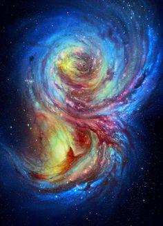 Colorful mix of the nebula  |  Mélange coloré de nébuleuse