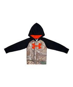 Love this Black & Orange Hunt Raglan Zip-Up Hoodie - Little Boys by Under Armour® on #zulily! #zulilyfinds