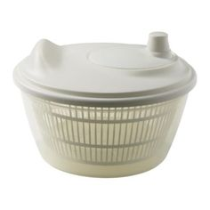 """IKEA TOKIG SALAD SPINNER WHITE by HOMESUPPLIES. $7.99. Product dimensions Diameter: 9 """" Height: 6 """"   Diameter: 23 cm Height: 14 cm  Handwash only. Product description Polypropylene, Synthetic rubber  WHITE COLOR"""""""""""