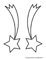 Shooting star pattern Use the printable outline for crafts