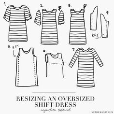 Merrick's Art // Style + Sewing for the Everyday GirlRESIZING AN OVERSIZED SHIFT DRESS | Merrick's Art