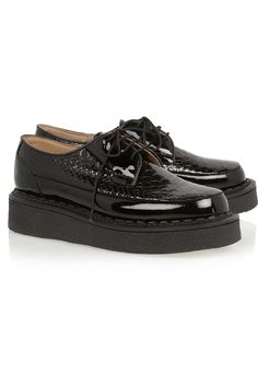 Purified+ George Cox snake-effect patent-leather creepers