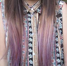 Pastel purple/lilac ombre hair ~