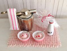 Miniature Ice Cream Maker 2 Bowls Of by LittleThingsByAnna on Etsy
