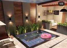Me gusta, 54 comentarios - ⠀⠀⠀⠀ Terrace Design, Patio Design, Exterior Design, Small Backyard Pools, Backyard Pool Designs, Pergola Patio, Backyard Patio, Small Pool Design, Jacuzzi Outdoor