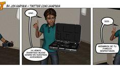Tira cómica Blown Out del número 92 de Foto DNG