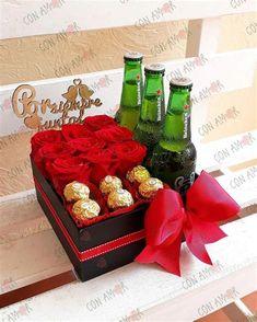 Valentines Day Baskets, Birthday Gift Baskets, Valentines Gifts For Boyfriend, Birthday Box, Boyfriend Gifts, Valentine Day Gifts, Birthday Gifts, Flower Box Gift, Flower Boxes