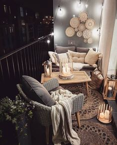 Marzena Marideko Soft Neutral Balcony Decor Inspiration | The Best Decorated Small Outdoor Balconies on Pinterest | Small Patio Decor Ideas | Boho Apartment Patio Inspiration | Outdoor Furniture Inspiration | Cozy Neutral Outdoor Decor