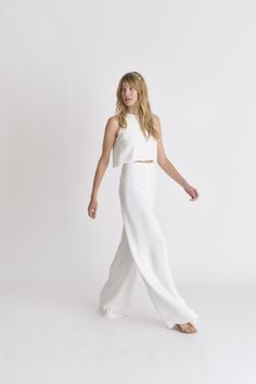 Alexandra Grecco Bridal Pantsuit Spring 2018 | http://www.brides.com/photos/alexandra-grecco-wedding-dresses-spring-2018-03
