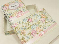 Ag. Noiva com caixa - floral CHARME bege | Ateliê Cris Degani | Elo7