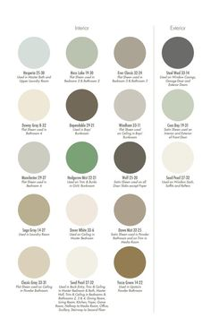 Coastal Living's Ultimate Beach House Color Palette - Pratt & Lambert  Moss Lake, Seed Pearl (Perfect white - not too warm not too cool), Ever Classic  , Steel