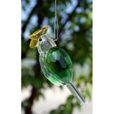 Crystal Bird - Design 1. Our Hanging Crystal Birds are 9 cm high and have approximately 24 cm long metal string.