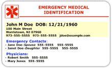 Print Your Free Medical ID Card | Diabetics | Drug, Food Allergies