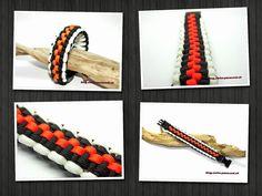 Racing style weave paracord bracelet.