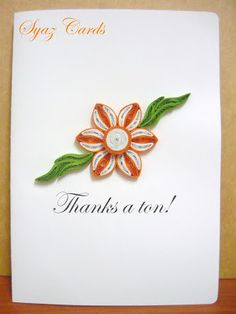 Syaz Cards: Another thank you note