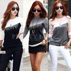 2016 stylish polka dot shirts Las mujeres con estilo verano ocasional Blusa…