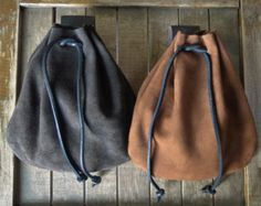 Medieval Leather Pouch Renaissance Bag Choose by FolkOfTheWood