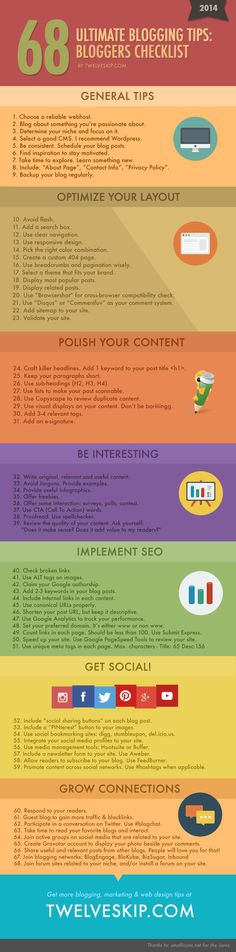 blogging tips for beginners infographic.  This is well organized which make it easy to use