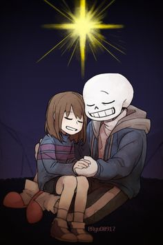 Frisk and Sans | Artist RyuO