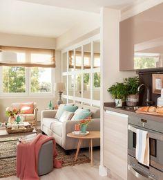 Delicate accente pastelate într-un apartament de 65 m²