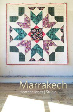 Marrakech a PDF modern quilt pattern in two by HeatherJonesStudio