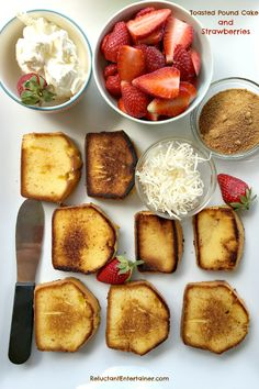 Toasted Pound Cake and Strawberries