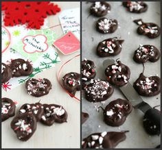 Chocolate Covered Pretzels Recipe (crushed candy canes for holidays)
