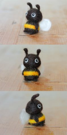 This little felt bee is super cute and will bring cheer to any bookshelf, work desk, or lucky recipient. He would be the perfect quirky gift for bee lovers and beekeeping enthusiasts everywhere. #needlefelt #felt #bumblebee #ad