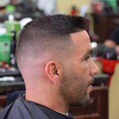 Fade Haircut Styles, High Fade Haircut, Hair And Beard Styles, Short Beard, Short Hair Cuts, Short Hair Styles, Mens Clipper Cuts, Slick Hairstyles, Undercut Hairstyles