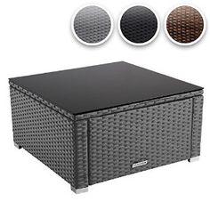Miadomodo® RTTT05 Polyrattan Coffee Table 59 x 59 cm DIFFERENT COLOURS (Grey): Amazon.co.uk: Garden & Outdoors