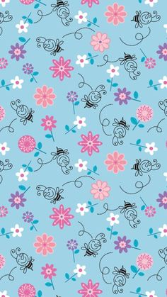 Bees and Flowers Illustration Pattern Whatsapp Wallpaper Cute Home Screen Wallpaper, Cute Home Screens, Best Wallpaper Hd, Iphone 5s Wallpaper, Cute Tumblr Wallpaper, Whatsapp Wallpaper, Cute Girl Wallpaper, Cute Wallpaper For Phone, Wallpaper Iphone Cute