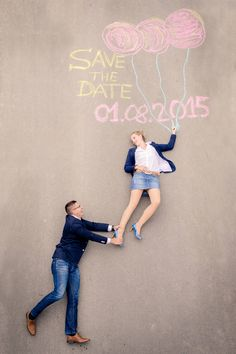 Idee für Save the Date Karten | Engagement Shooting Thueringen #marieundthomas