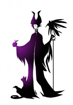 Maleficent may not be so cute, but this would be a great tattoo!!!