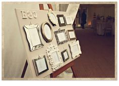 This seating plan was created using picture frames.