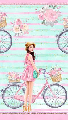 Me encanta Cute Girl Wallpaper, Trendy Wallpaper, Cute Wallpaper Backgrounds, Pink Wallpaper, Nature Wallpaper, Cute Wallpapers, Wallpaper Desktop, Wallpaper Quotes, Disney Wallpaper