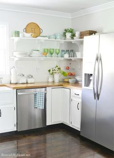 This home tour shows a beautiful kitchen remodel that hasn't requiring gutting the whole room.  The rest of the home is equally as lovely.