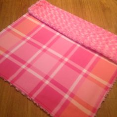 Pretty in Pink Baby Blanket, Minky Baby Blanket, Handmade, Pink Infant Blanket by SouthernSewnDesigns on Etsy