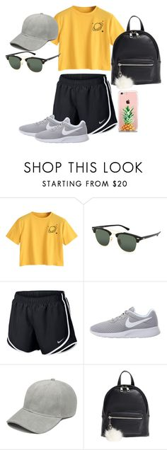 """""""Amusement Park"""" by kalliewallie06 ❤ liked on Polyvore featuring Ray-Ban, NIKE, BP. and The Casery"""